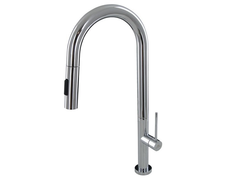 Kitchen mixer tap with aerator URBAN | Kitchen mixer tap with pull out spray - NOKEN DESIGN