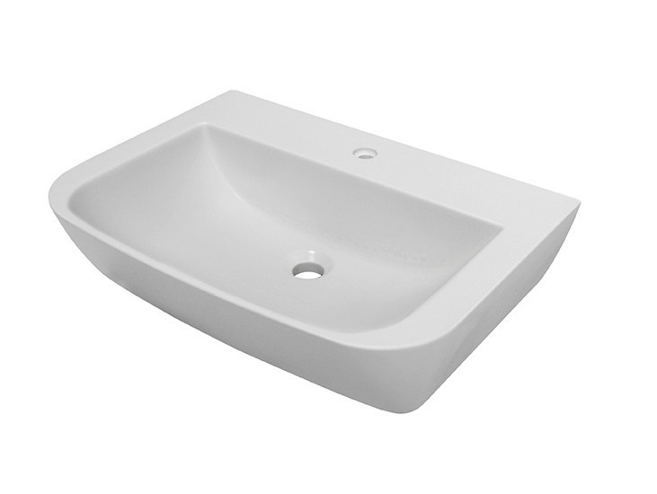 Countertop rectangular washbasin with overflow URBAN | Countertop washbasin by Noken