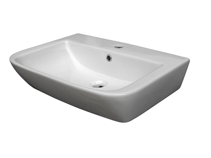 Countertop rectangular washbasin with overflow URBAN | Rectangular washbasin - NOKEN DESIGN