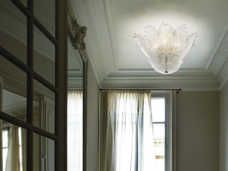 Blown glass ceiling lamp ACCADEMIA PL 10F - Vetreria Vistosi