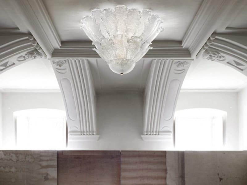 Blown glass ceiling lamp ACCADEMIA PL 30F - Vetreria Vistosi