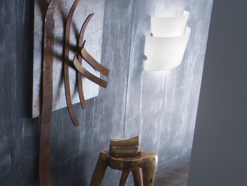 Blown glass wall lamp ALIKI AP 2 - Vetreria Vistosi