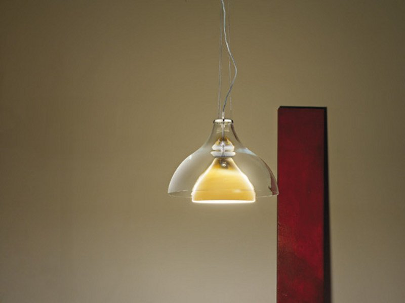 Contemporary style direct light glass pendant lamp ALMA SP - Vetreria Vistosi