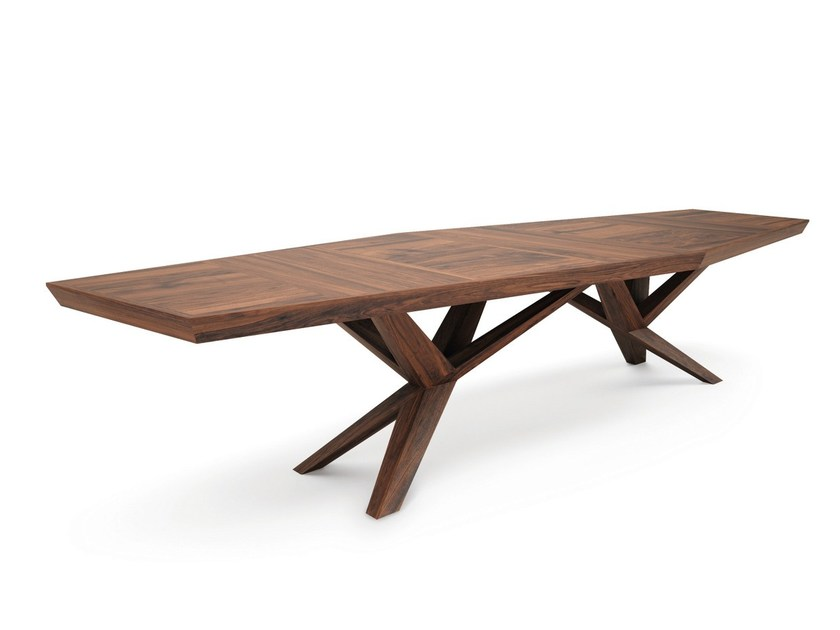Rectangular wooden meeting table XENIA - Belfakto