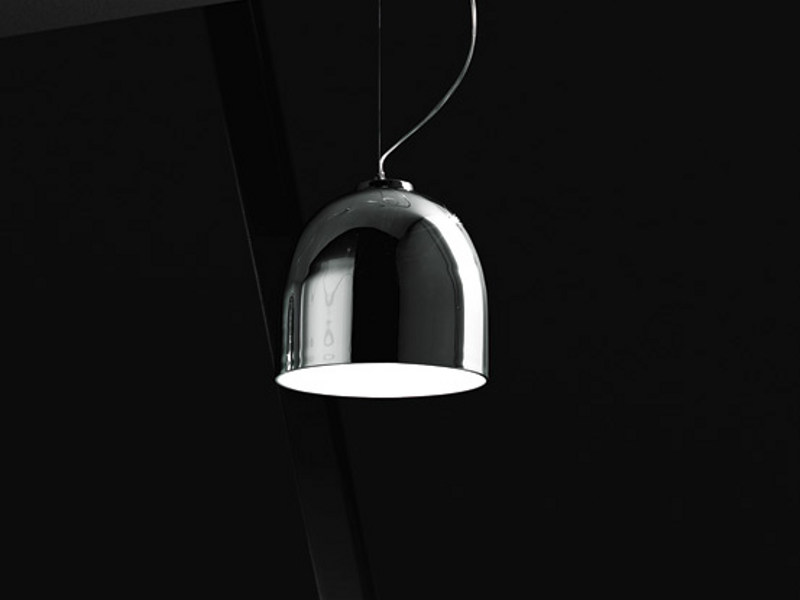 Mirrored glass pendant lamp ALUM SP - Vetreria Vistosi
