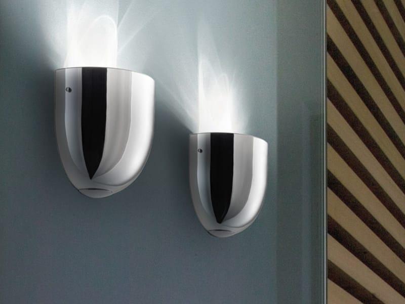 Mirrored glass wall lamp ALUM AP - Vetreria Vistosi