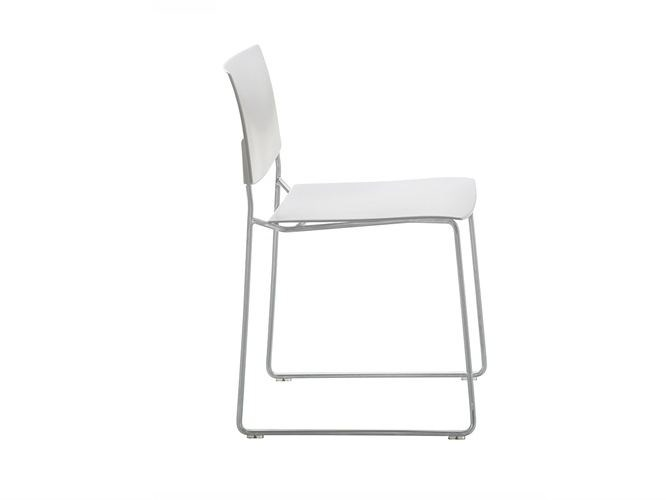 Sled base stackable chair SIT | Sled base chair - Andreu World