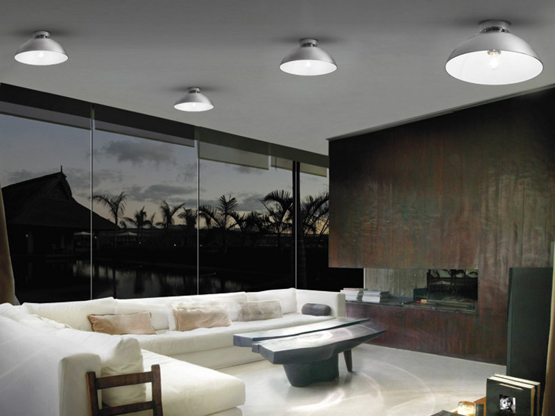 Mirrored glass ceiling lamp ALUM 09 PL - Vetreria Vistosi