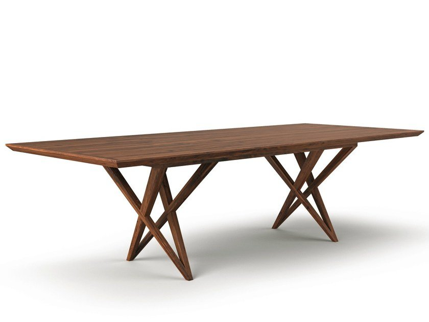 Rectangular wooden dining table VIVIAN | Rectangular table - Belfakto