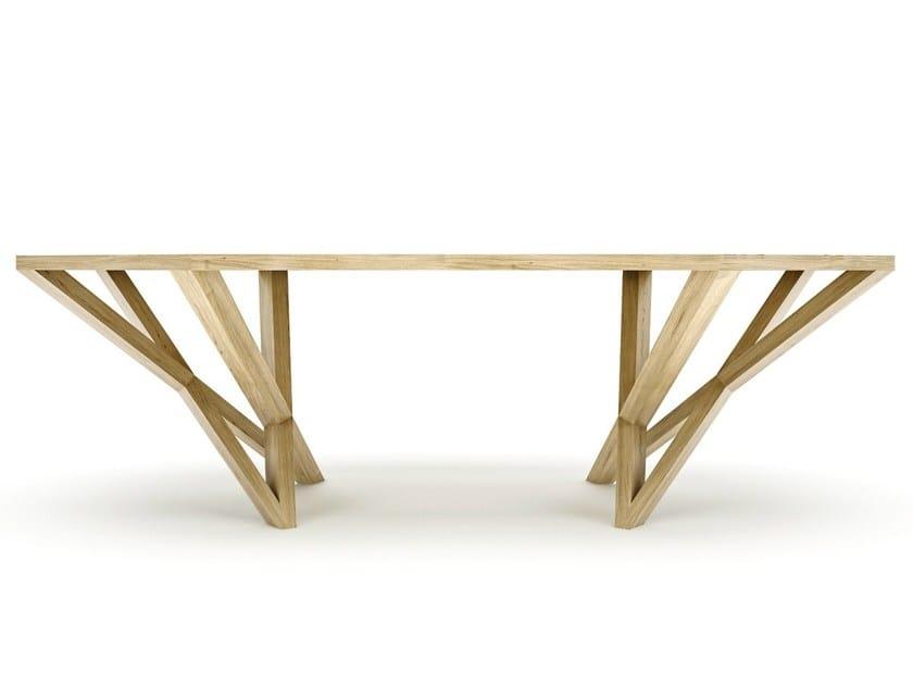 Solid wood writing desk VELVET - Belfakto