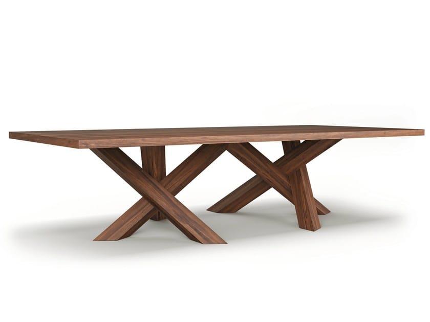 Rectangular wooden meeting table ROGUM - Belfakto
