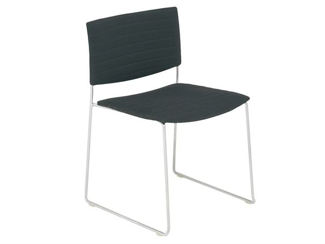 Sled base upholstered stackable chair SIT SOFT | Sled base chair - Andreu World