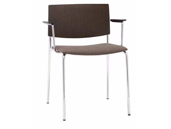 Stackable chair with armrests SIT MIX | Chair with armrests - Andreu World