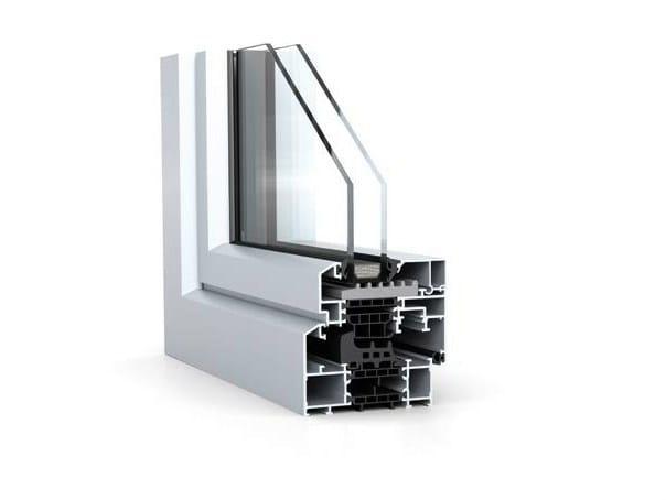 Aluminium Window with bevelled profile contours WICLINE 65/75 evo - Classic Design by WICONA