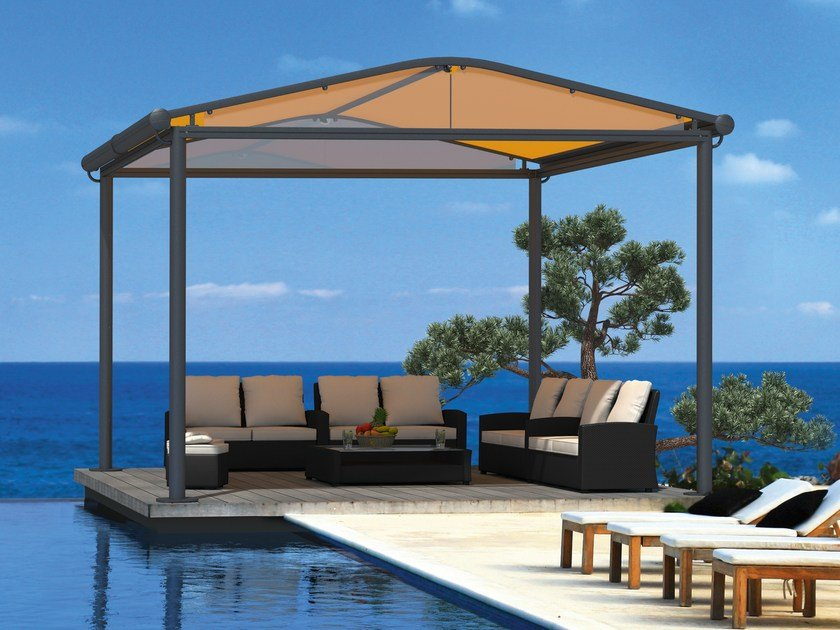 Freestanding box motorized awning MARKILUX PAVILLON RS-1 by markilux