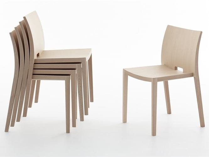 Stackable wooden chair UNOS | Stackable chair - Andreu World