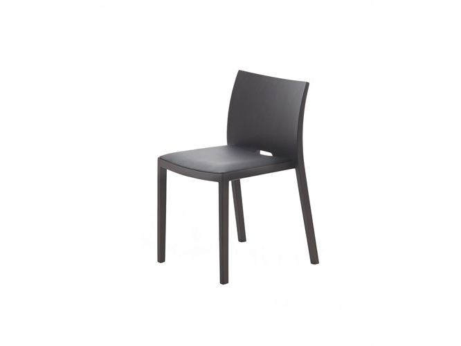 Upholstered stackable wooden chair UNOS | Upholstered chair - Andreu World