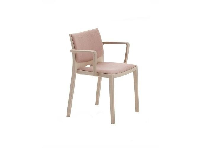Upholstered stackable chair with armrests UNOS | Chair with armrests - Andreu World
