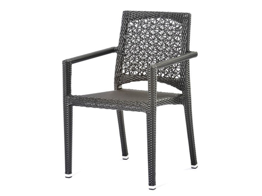 Synthetic fibre chair with armrests ALTEA | Chair with armrests - Varaschin