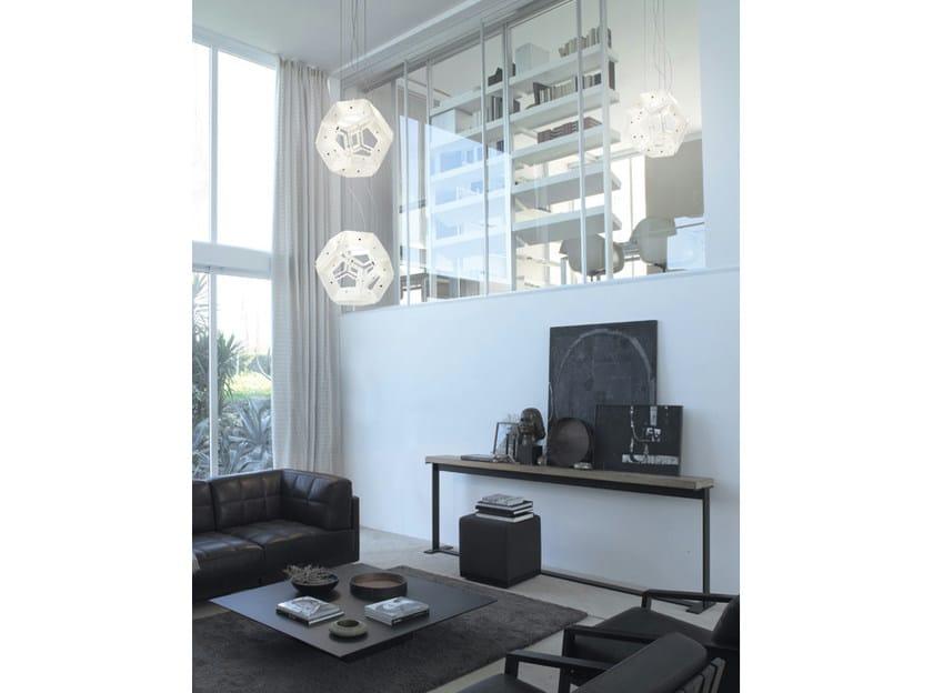 Glass pendant lamp AUREA SP 24 - Vetreria Vistosi