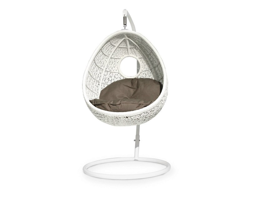 Synthetic fibre garden suspended chair ALTEA | Garden hanging chair - Varaschin
