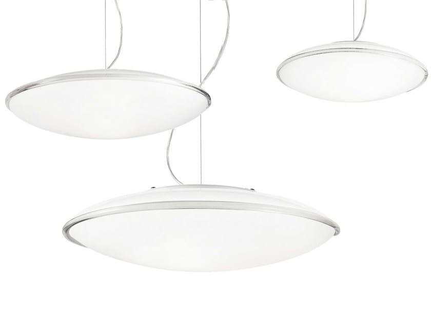 Satin glass pendant lamp AURORA SP - Vetreria Vistosi