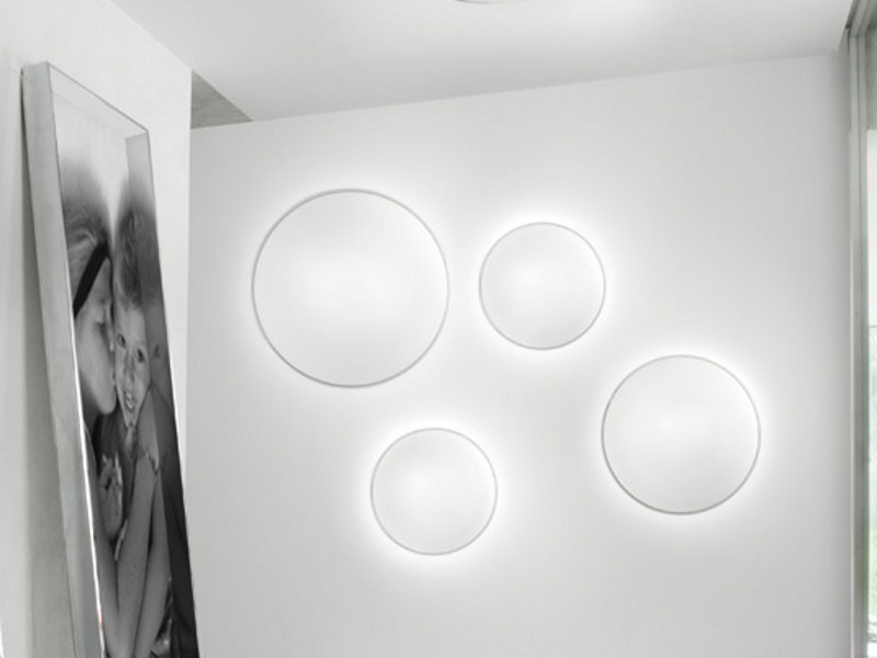Satin glass wall lamp AURORA PP - Vetreria Vistosi