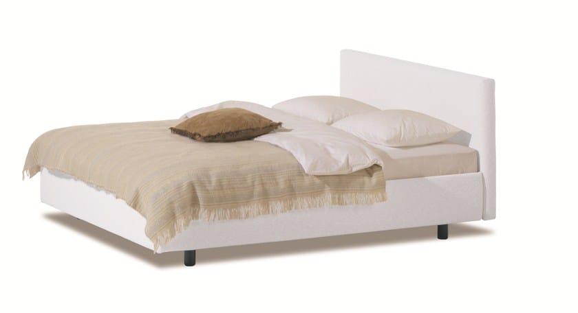 Double bed with upholstered headboard SAVOY 21 + CHANGE - H - Schramm Werkstätten
