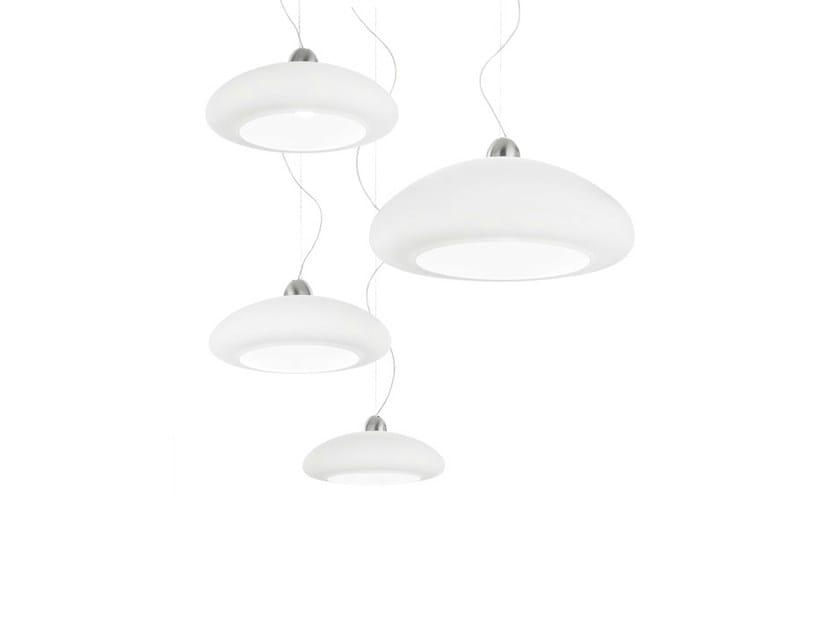 Glass pendant lamp BIANCA SP by Vetreria Vistosi