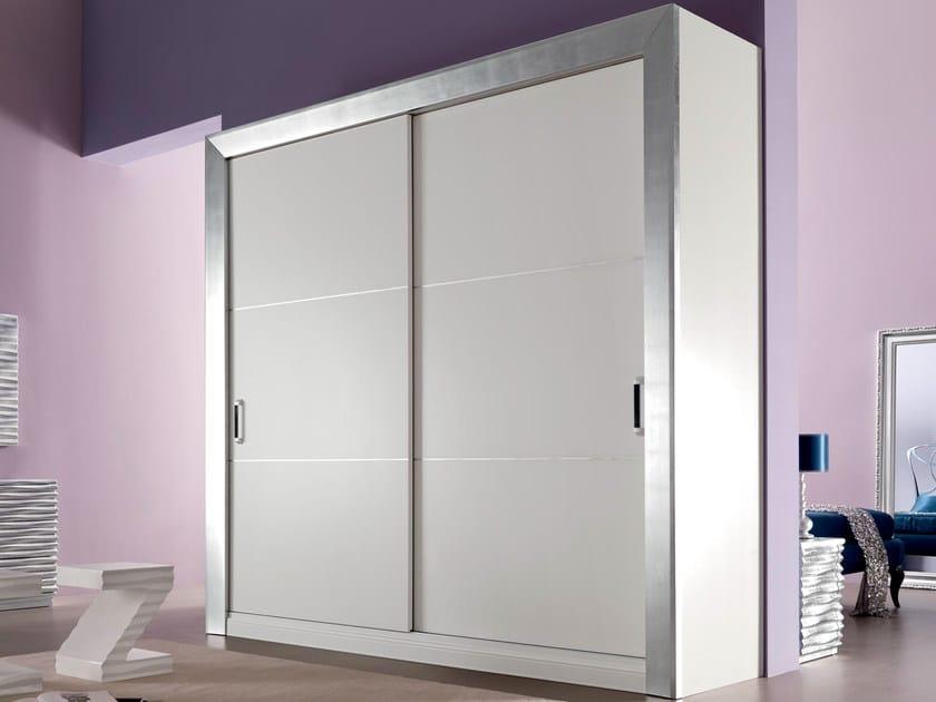 Oak wardrobe with sliding doors KEOPE | Wardrobe - CorteZari