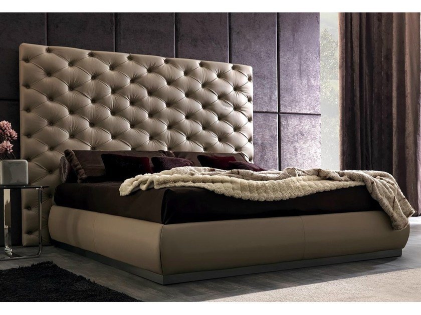 Double bed with tufted headboard RICHARD by CorteZari