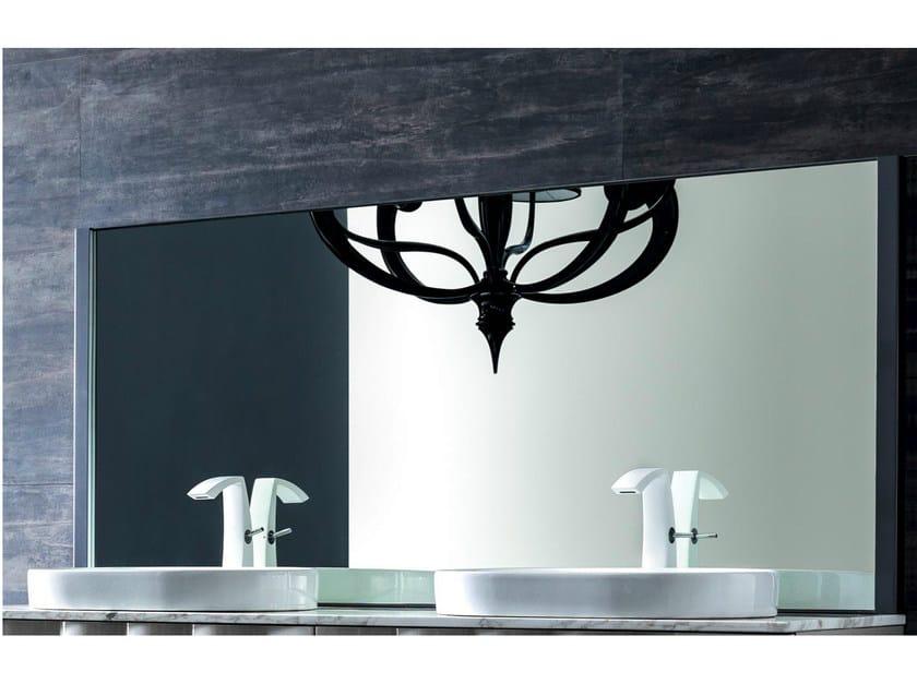 Metal mirror with integrated lighting QUADRA | Mirror - CorteZari