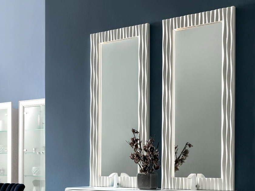 Wall-mounted bathroom mirror with integrated lighting EBON | Mirror with integrated lighting - CorteZari