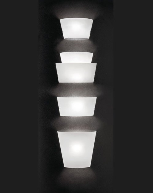 Blown glass wall light ALIKI AP by Vetreria Vistosi