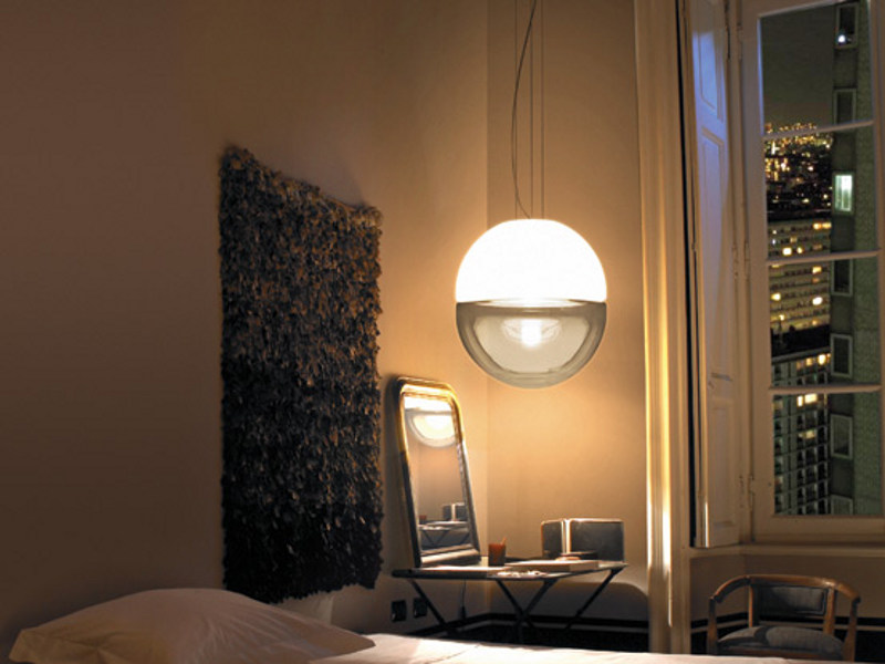 Blown glass pendant lamp BOREALE SP - Vetreria Vistosi