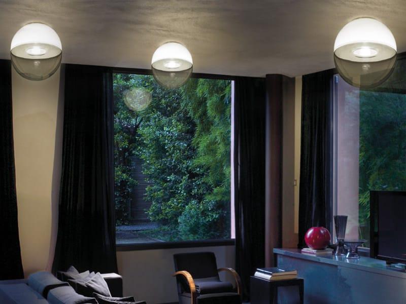 Blown glass ceiling light BOREALE PL - Vetreria Vistosi
