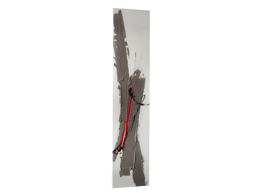 Wall-mounted Olycale® panel radiator ROSEGREY by Cinier