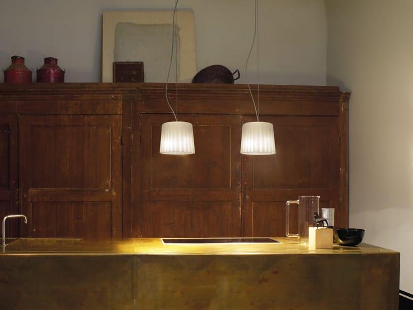 Blown glass pendant lamp CLOTH SP D2 - Vetreria Vistosi