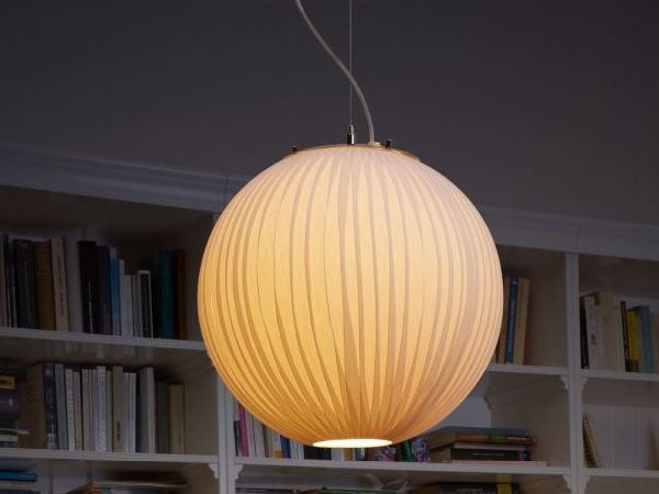 Fabric pendant lamp SATURN C by luxcambra
