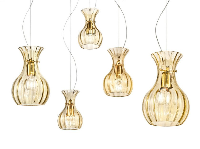 Blown glass pendant lamp COMARI SP by Vetreria Vistosi