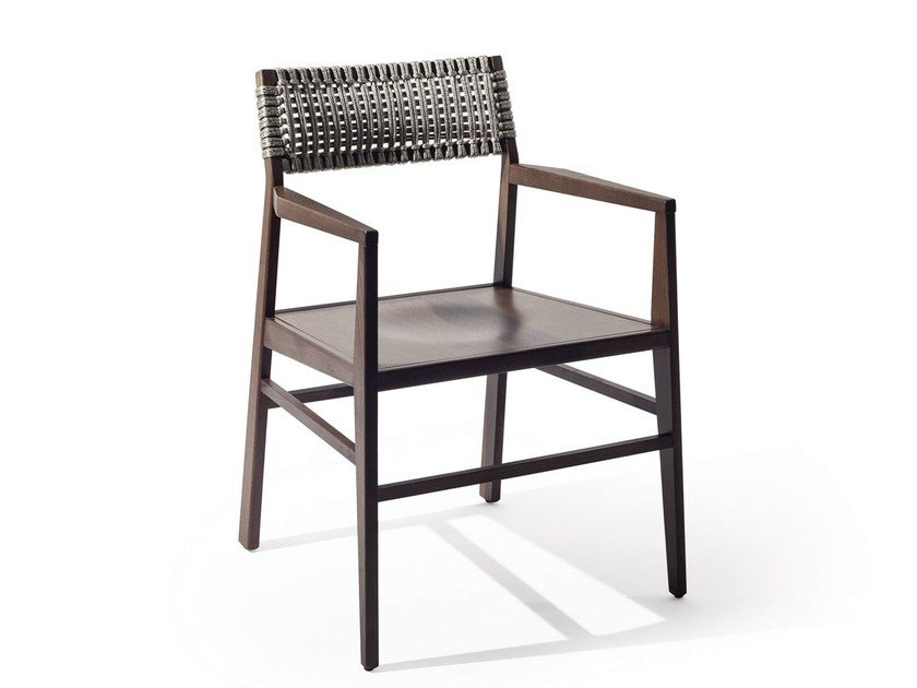 Rope chair with armrests ARUBA | Rope chair by Varaschin