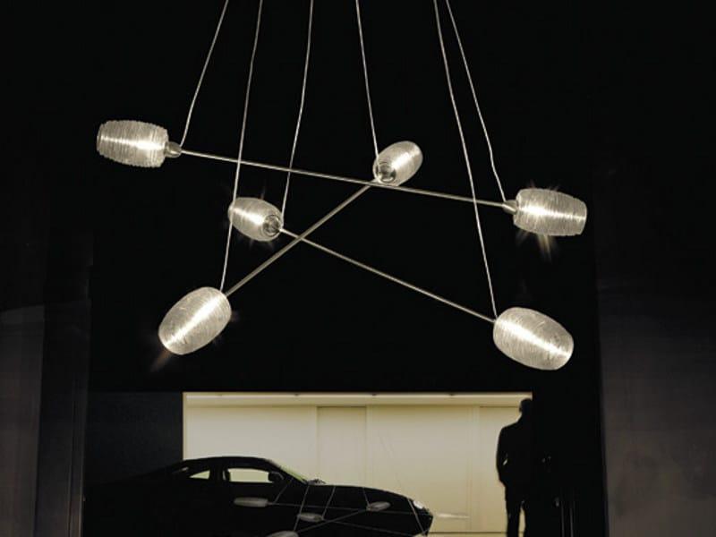 Glass chandelier DAMASCO SP 6 P by Vetreria Vistosi