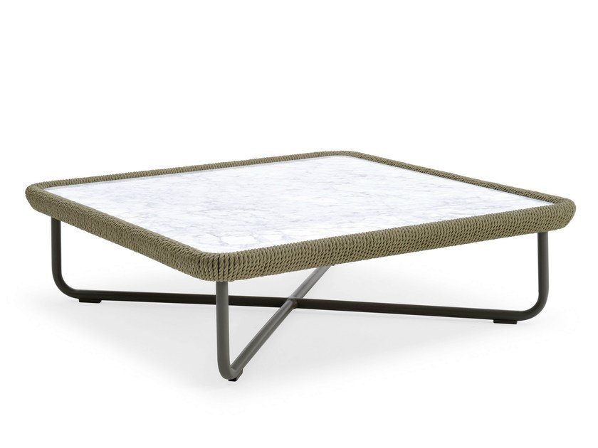 Coffee table with marble top BABYLON | Coffee table - Varaschin