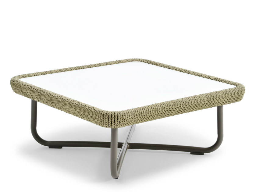 Coffee table with HPL top BABYLON   Square coffee table - Varaschin