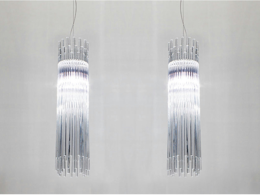 Glass pendant lamp DIADEMA SP D2 - Vetreria Vistosi
