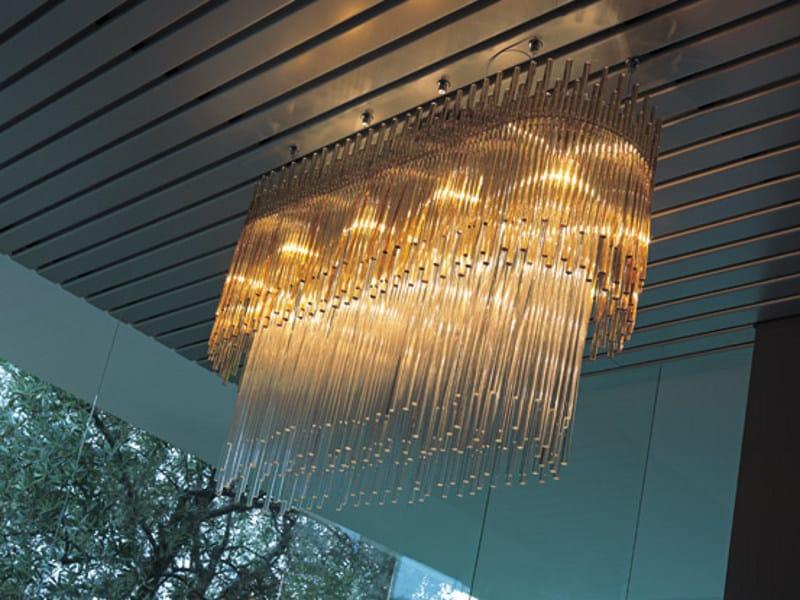 Glass chandelier DIADEMA SP O1 by Vetreria Vistosi
