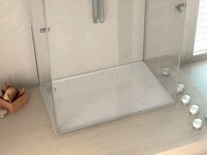 Rectangular Silestone® shower tray BUBBLES - Cosentino Group