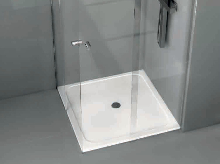 Square Silestone® shower tray FLOW - Cosentino Group