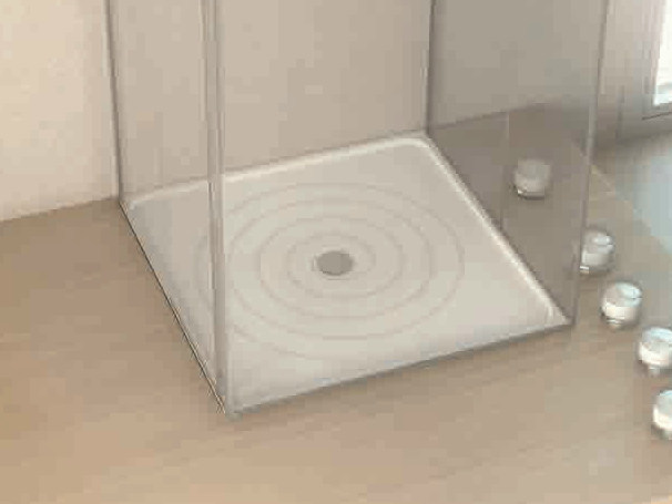 Square Silestone® shower tray DUCAL - Cosentino Group