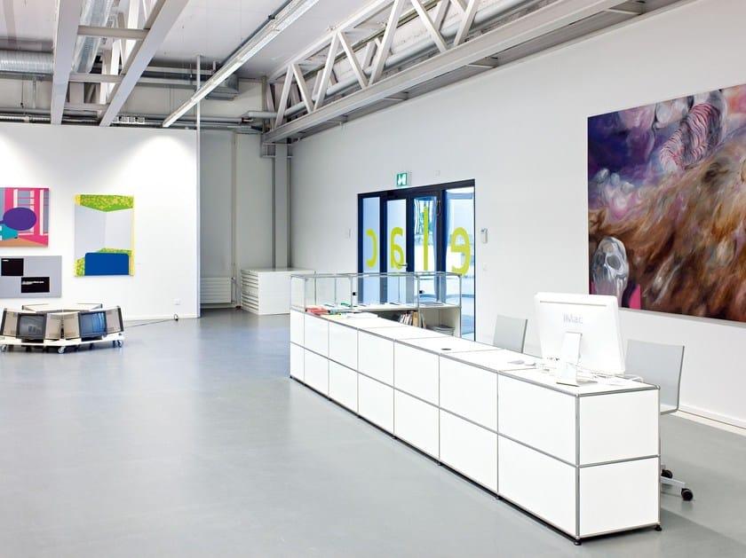 Modern storage system for pay desks USM HALLER STORAGE FOR PAY DESKS | Reception desk - USM Modular Furniture